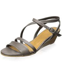 2f9e9a906df Lyst - Sam Edelman Bentlee Wood-trimmed Leather Sandals in Black