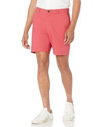 """Amazon Essentials Slim-fit Lightweight Stretch 7"""" Short - Rouge"""