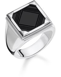 Thomas Sabo Ring Onyx 925er Sterlingsilber - Mehrfarbig
