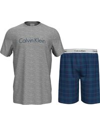 Calvin Klein S/S Short Set Ensemble de Pijama - Gris