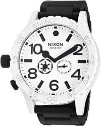 Nixon S Analogue Swiss-quartz Watch With -leather Strap A465008 - Black