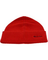 Marc O'polo Knitted Hat Brick - Rouge