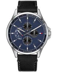 Tommy Hilfiger Reloj Análogo clásico para Hombre de Cuarzo con Correa en Cuero 1791385 - Azul