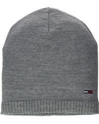 Tommy Hilfiger Basic Knit Beanie Bonnet - Gris