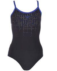 Speedo Womens Placement Muscleback Endurance Swimsuit - 36 Black