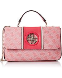 Guess Open Road Convertible Xbody Flap Cherry - Pink