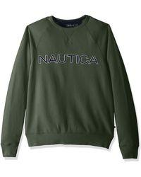 Nautica Fleece Graphic Crew Maillot de survêtement - Vert