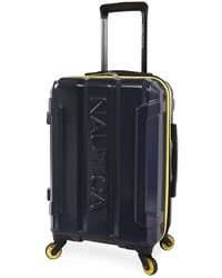 """Nautica Maker Hardside Spinner Carry On Luggage 21"""" - Blue"""