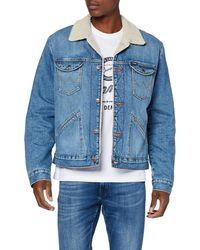 Wrangler Icons Sherpa Denim Jacket - Blu