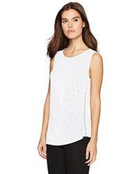 Calvin Klein - Sleeveless Top With Side Zipper - Lyst