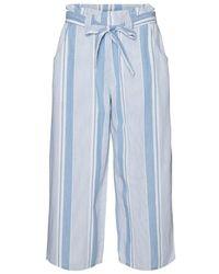 Vero Moda VMAKELA HR Chambray Paperbag Culotte GA Pantaloni - Blu