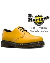 0170b77d1ee Unisex 1461 Yellow Smooth Leather Classic 3 Eye Shoes