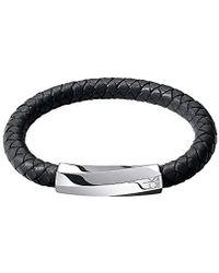 Calvin Klein Homme Acier Bracelet en corde - KJ2BBB09010M - Bleu