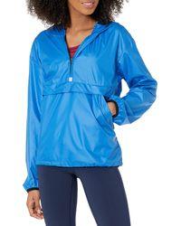 Amazon Essentials Pullover Coupe-Vent Pliable Sweat-Shirt - Bleu