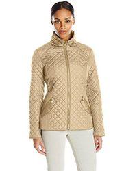Ellen Tracy - Outerwear Zip Font Quilt - Lyst