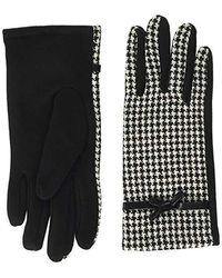 Dorothy Perkins Dog Tooth Bow Jersey Glove - Black