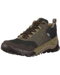 657eff81427 Merrell Annex Trak Mid Waterproof Men's Walking Boots In Black for ...