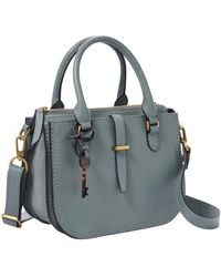 Fossil Ryder Mini Satchel Chambray - Blu