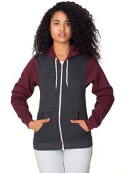 American Apparel - Unisex Flex Fleece Zip Hoodie - Lyst