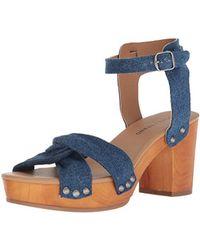 Whitneigh Denim Studded Block Heel Sandals tJ2aRlP