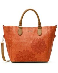 Desigual PU Hand Bag - Arancione