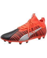 PUMA One 5.2 FG/AG, Botas de fútbol para Hombre - Rojo