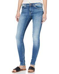 Vero Moda Vmlux Mr Slim Jeans Ri310 Noos - Blue