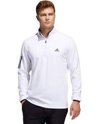 adidas Stripe Midweight Jumper - White/black