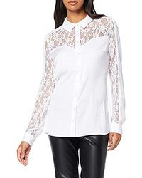 Guess Ls Carla Shirt Casual - White