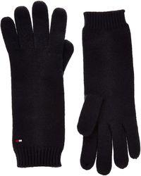 Tommy Hilfiger Flag Knit Gloves, - Black