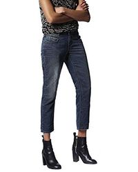 DIESEL Belthy-Ankle Pantaloni Jeans Straight Donna - Blu