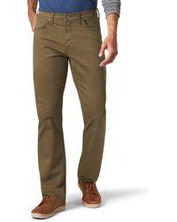 Wrangler Authentics Straight Fit Twill Pant Unterhose - Grün