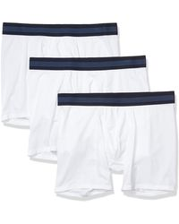 Goodthreads 3-Pack Lightweight Performance Knit Boxer Brief Calzoncillos Tipo - Blanco