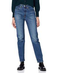 Levi's 501 Crop Jean Boyfriend - Bleu