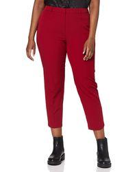 Dorothy Perkins Raspberry Split Hem Ankle Grazer Trousers Trousers - Red