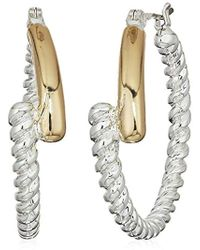 Napier - Two-tone Click It Hoop Earrings - Lyst