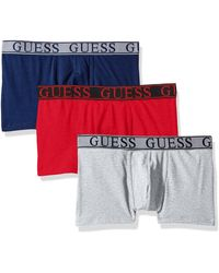 Guess Instinct 3 Pack Boxer Trunks - Red