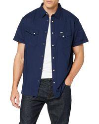 Wrangler Short Sleeve Heritage Western Navy Camicia - Blu