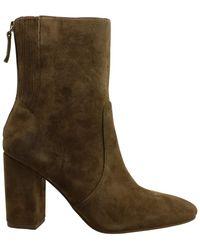 Nine West Frauen Windsor Runder Zeh Leder Fashion Stiefel Beige Groesse 7 US /38 EU - Braun