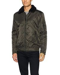 Kenneth Cole - Aviator Jacket With Removable Faux Sherpa Collar - Lyst