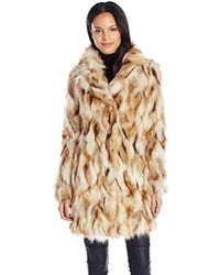7 For All Mankind - Single Breasted Multi-color Faux Fur Coat - Lyst