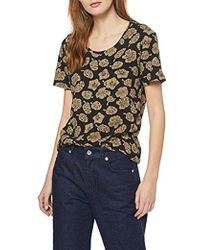 Scotch /& Soda V-Neck Pull with Lurex T-Shirt Donna