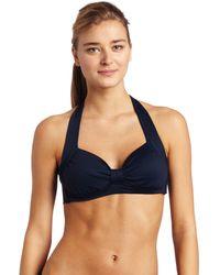 Seafolly DD Cup Halter Bikini - Blu