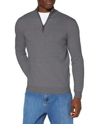Superdry Orange Label Henley suéter - Gris