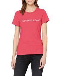 Calvin Klein Institutional Logo Slim Fit - Pink