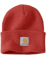 cc2d4c9678e Lyst - Carhartt Acrylic Watch Hat A18 in Red for Men