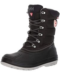 Helly Hansen Tundra Cold Weather Waterproof Winter Boot With Grip Snow - Black