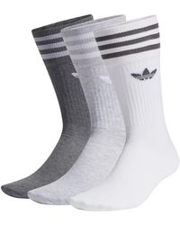 adidas 3 Stripes Crew Socks Socken 3er Pack - Grau
