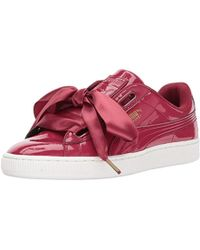 new product 58c68 71cb5 Basket Heart Patent Wn Sneaker - Red