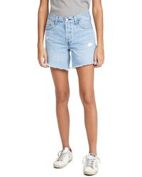 Levi's 501 Long Shorts - Blue
